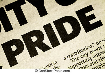 Printed word Pride