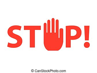 Stop hand sign Human hand Stop symbol