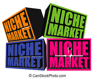 Niche Markets - A conceptual illustration of niche markets.