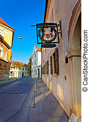 Old street of Zagreb upper town