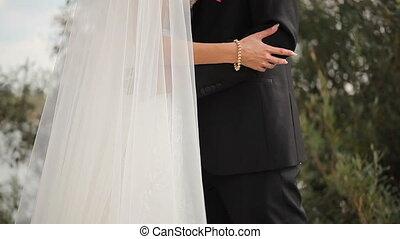 Bride and Groom Close Up - Bride and groom, gentle feelings...