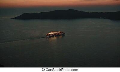 yachts on sunset santurini travel.