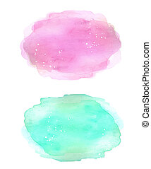 Colorful soft colors watercolor blue and pink texture...