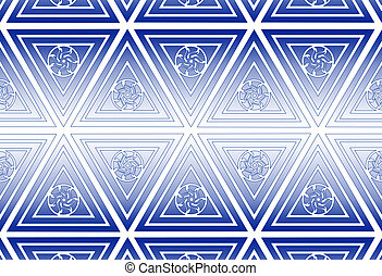 several geometric figures - pattern in the manner of several...