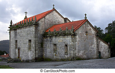 small church - Portuguese small church located on top of a...