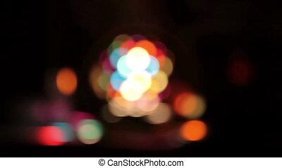 Disco Light Bokeh - Beautiful disco light, video shot in...