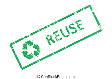 Recycle office rubber stamp