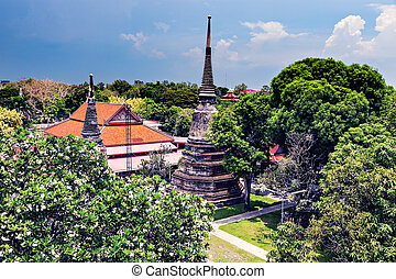 Ayutthaya, Thailand - Ruins of old city in Ayutthaya...