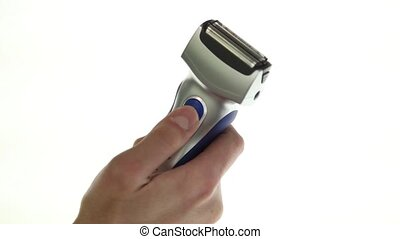 Electric shaver over white background - Check shaver on a...