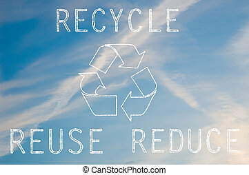 Recycle text