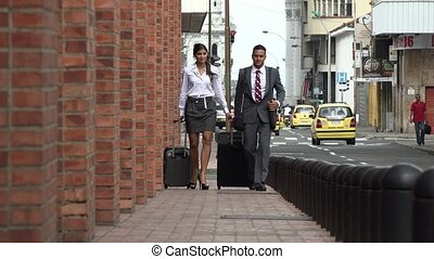 Business Man and Woman Slow Motion