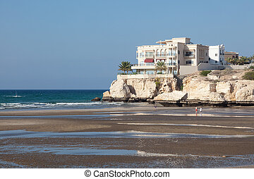 Beach in Muscat, Oman - Arabian Gulf beach at low tide....