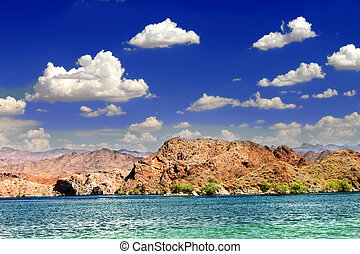 Nevada Desert Lake Landscape