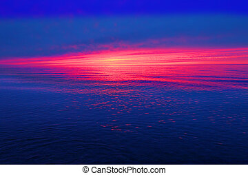 Great Lakes Sunset Michigan - Great Lakes sunset landscape...