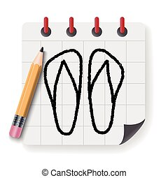 doodle flip flop