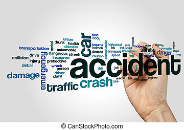 Accident word cloud concept