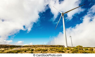 Modern windmills producing eco energy