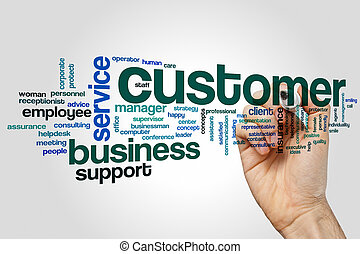 Customer word cloud concept