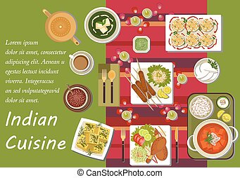 Indian cuisine main dishes and snacks - Indian cuisine...