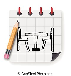 doodle table