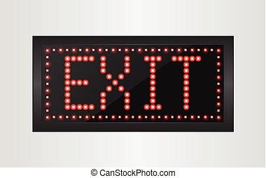 Led lights exit sign - Illustration of led lights exit sign