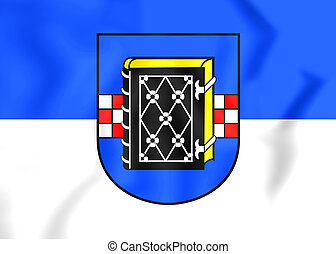 Flag of Bochum North Rhine-Westphalia, Germany - 3D Flag of...