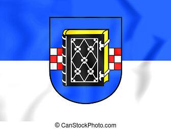 Flag of Bochum (North Rhine-Westphalia), Germany. - 3D Flag...
