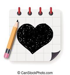 Doodle poker Heart
