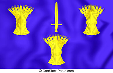 Flag of Cheshire County, England - 3D Flag of Cheshire...