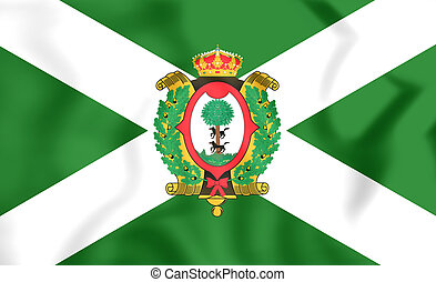 Flag of Durango State, Mexico - 3D Flag of Durango State,...
