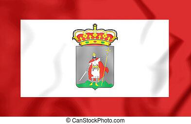 Flag of Gijon Asturias, Spain - 3D Flag of Gijon Asturias,...
