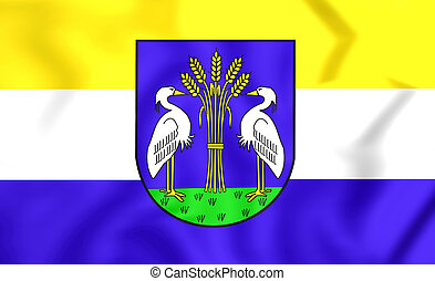 Flag of Heerhugowaard (North Holland), Netherlands. - 3D...