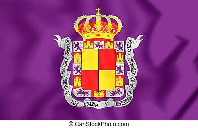Flag of Jaen City, Spain - 3D Flag of Jaen City, Spain Close...