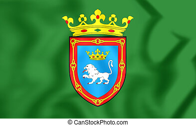 Flag of Pamplona Navarre, Spain - 3D Flag of Pamplona...