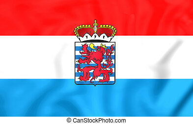 Flag of Luxembourg Province, Belgium. - 3D Flag of...