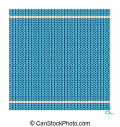 Knitted Seamless Blue Background. Vector