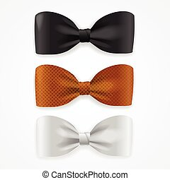 Colorful Bow Tie Set. Vector