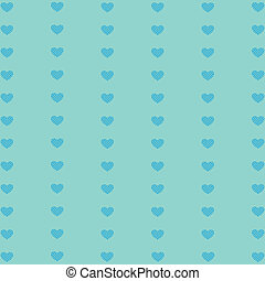 Hearts geometric pattern Texture in blue tones