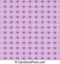 Hearts lilac pattern - Hearts geometric pattern Texture in...