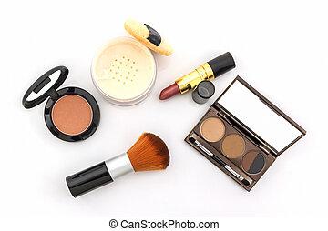 Decorative Cosmetic set - Decorative Cosmetic set on white...