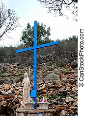 The Virgin Mary & Christian Cross - Medjugorje, Bosnia...