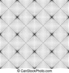 Abstract monochrome background with lines of squares Vector...