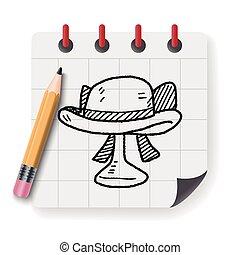 woman hat doodle