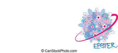 Easter sign - White background with Easter sign. Vector...