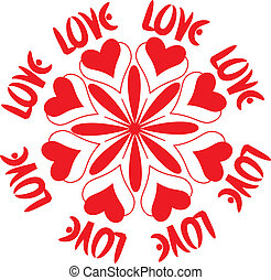 Love sign - White valentines background with love sign....