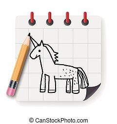Unicorn doodle