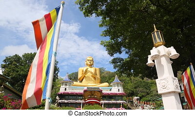 Big Golden Buddha in Sri Lanka