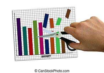 Cutting costs - Budget graph being cut - seemingly randomly
