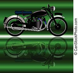 Classic Motor Cycle - A classic style motor cycle with...