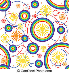 Rainbow background. Seamless. Vector illustratin. Suits well...